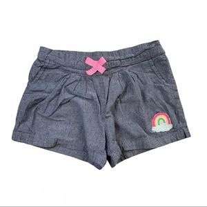 CARTER'S Girls Chambray Shorts Size 5T